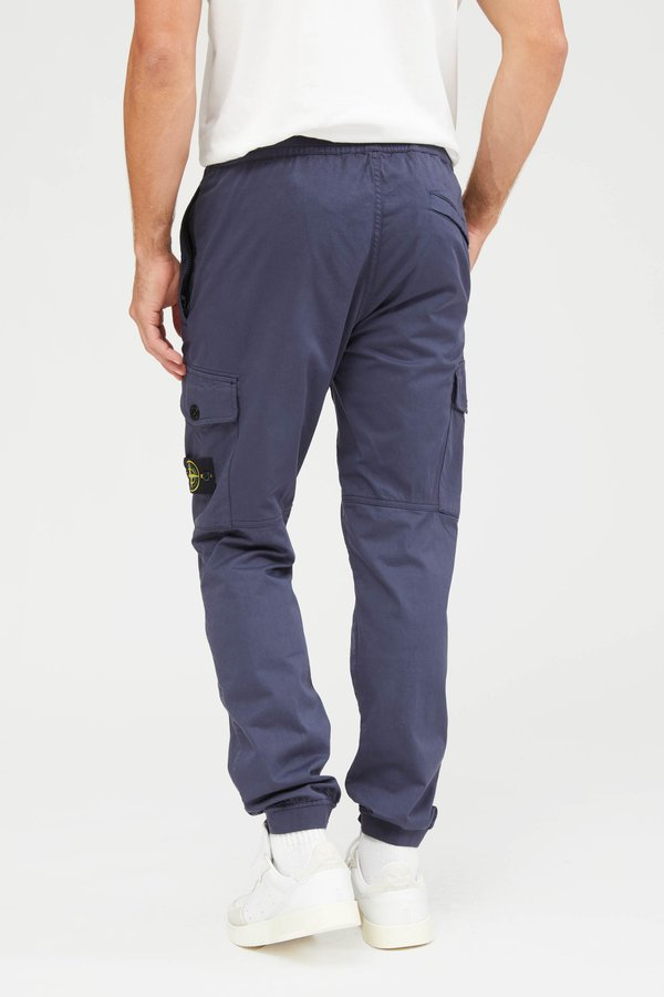 Stone Island Raso Cotone Lana Stretch Pants - Blue Marine