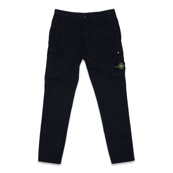 318Wa Brushed Cotton Canvas Garment Dyed 'Old Effect' Pants - Black