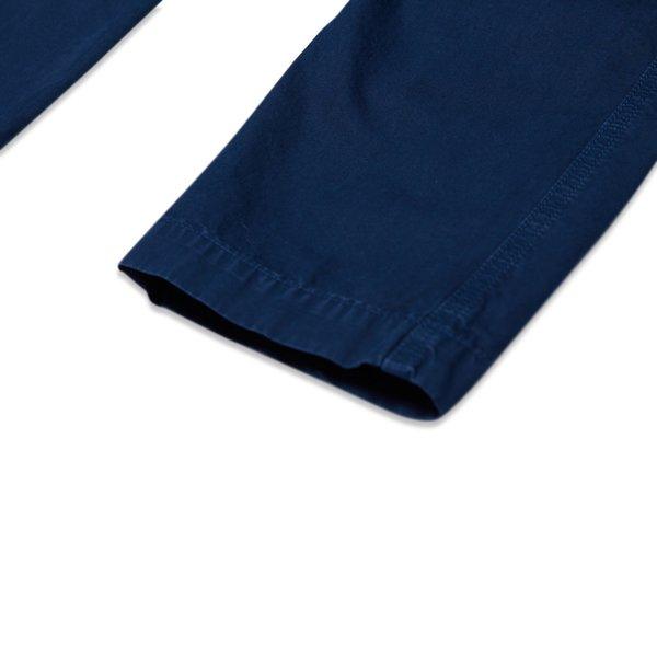 318Wa Brushed Cotton Canvas Garment Dyed 'Old Effect' Pants - Blue Marine