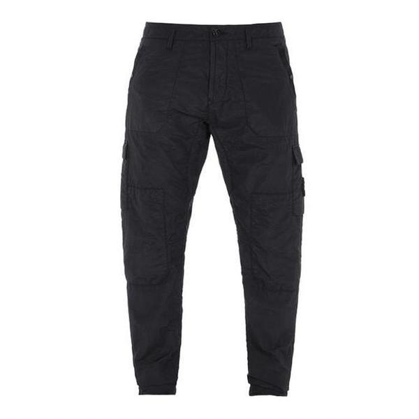 32029 Si Pa/Pl Seersucker-Tc Garment Dyed Pants - Black