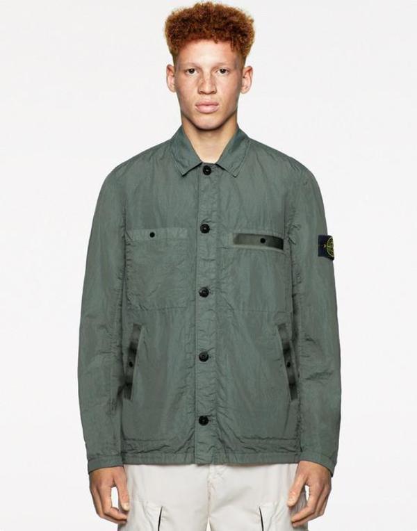 44229 Si Pa/Pl Seersucker-Tc Garment Dyed Jacket - Black