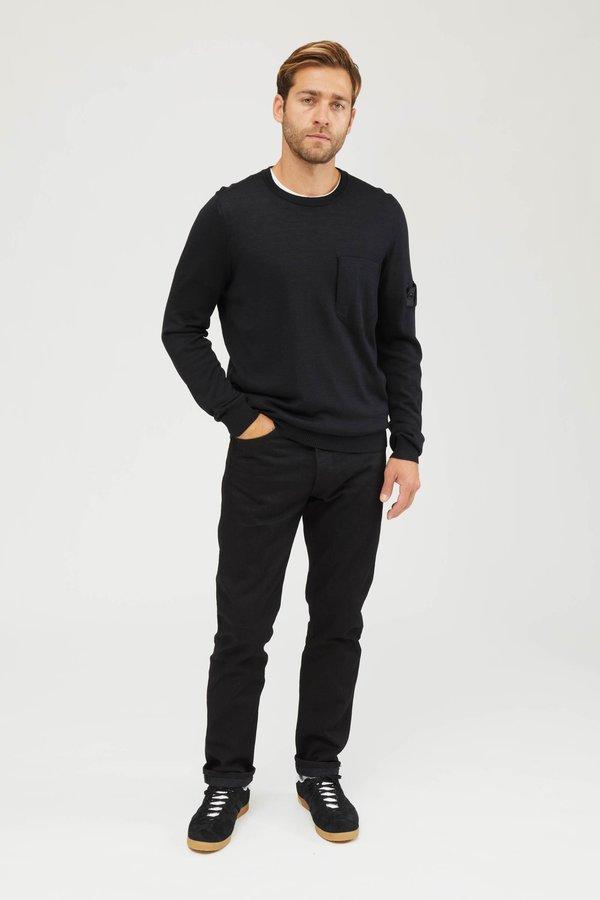 Stone Island Shadow Project Wool Silk Knit Sweater - Black