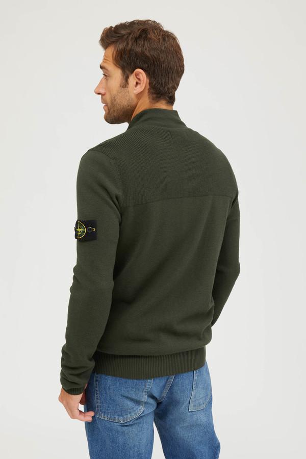 Stone Island Lana Elasticizzata Knit Sweater - Musk