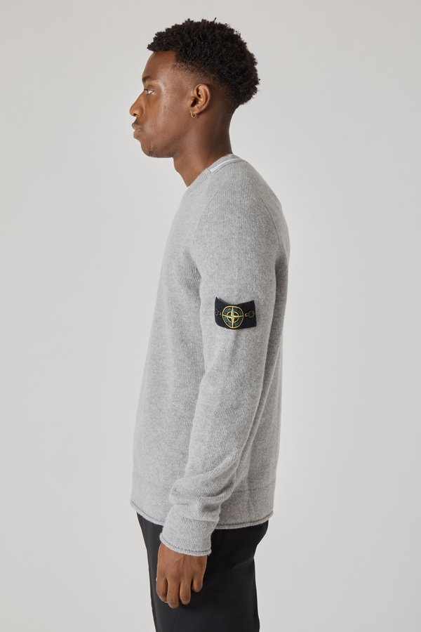 513A3 Lambswool Knit Sweater - Pearl Grey