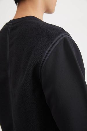 Stone Island Shadow Project Felpa Nylon Crew Sweatshirt - Black
