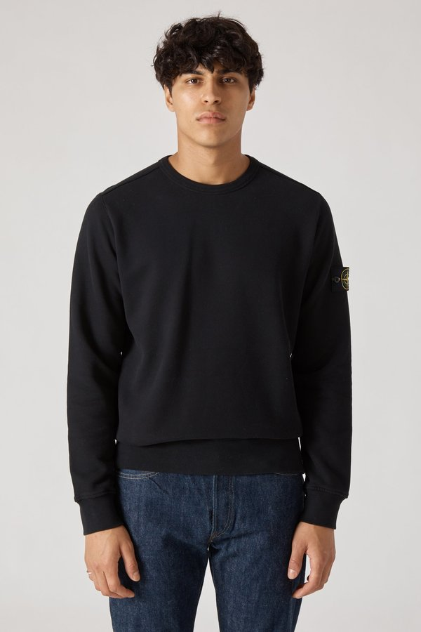 62720 Cotton Fleece Garment Dyed Sweatshirt - Black