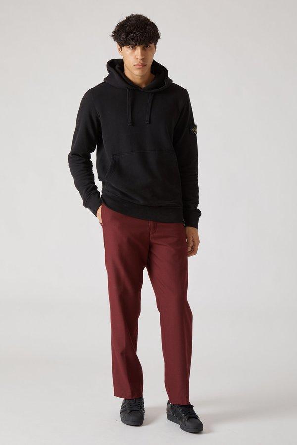 62820 Cotton Fleece Garment Dyed Hoody - Black