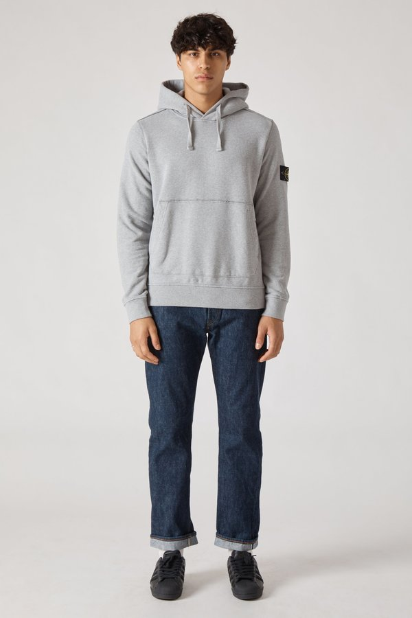 62820 Cotton Fleece Garment Dyed Hoody - Grey