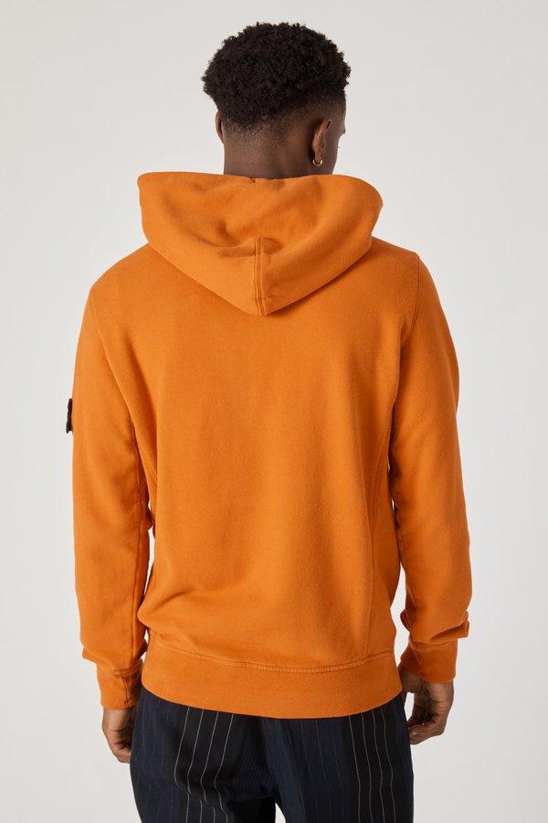 62820 Cotton Fleece Garment Dyed Hoody - Orange