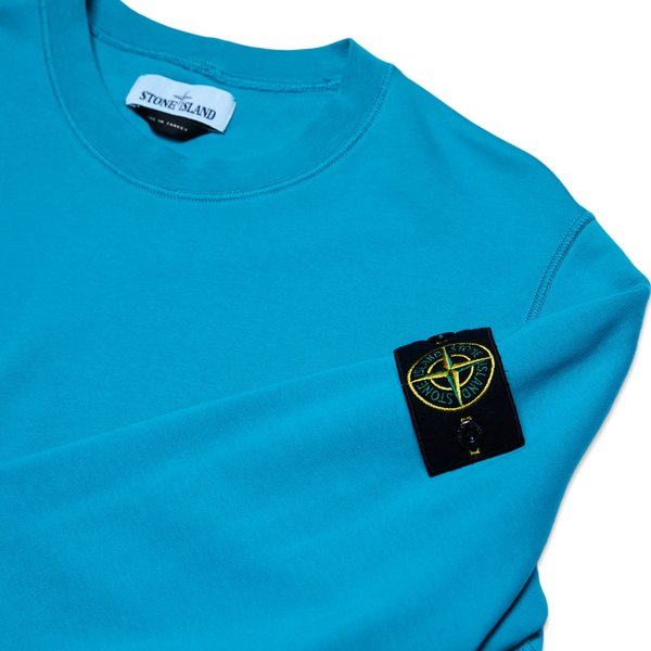 63051 Cotton Fleece Garment Dyed Sweatshirt - Turquoise
