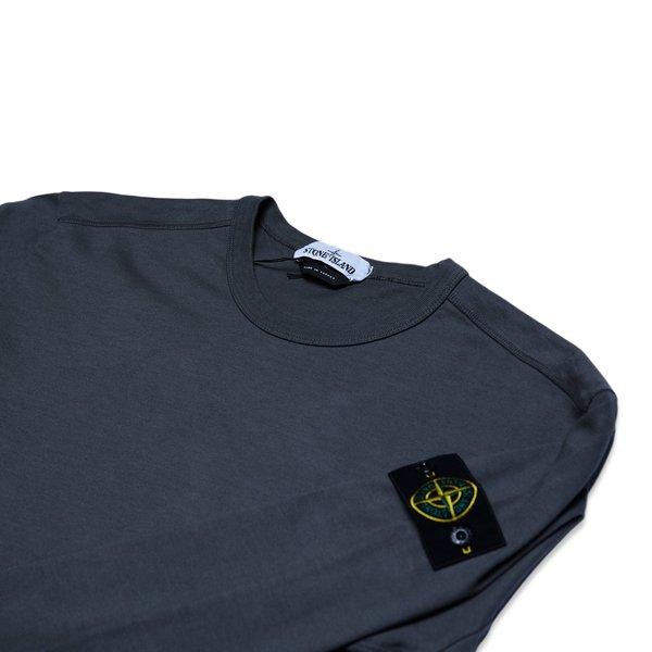 64450 Heavy Cotton Jersey Garment Dyed Sweatshirt - Blue Grey