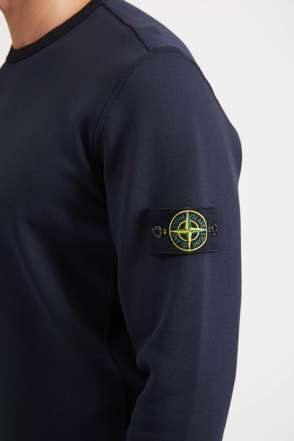 Stone Island Felpa Nylon Cotone Sweatshirt - Navy Blue