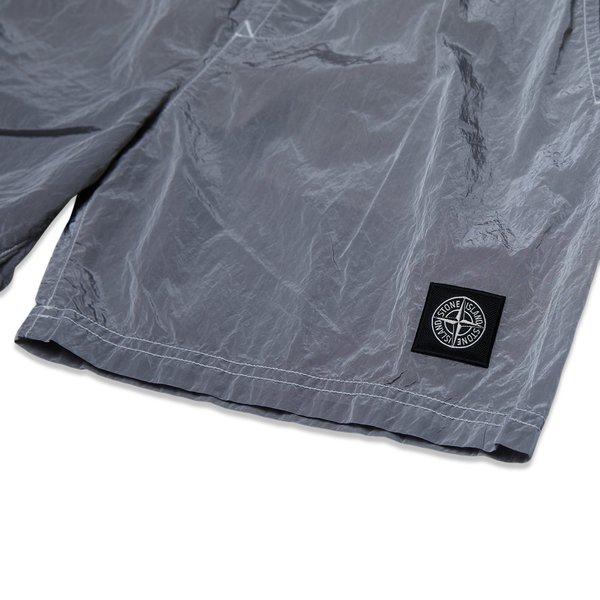 B0943 Nylon Metal Garment Dyed Swim Shorts - Dust