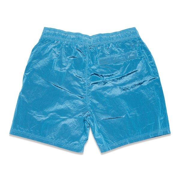 B0943 Nylon Metal Garment Dyed Swim Shorts - Turquoise