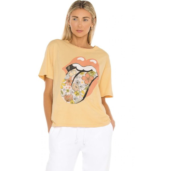 Daydreamer Rolling Stones Flower Tongue Tee