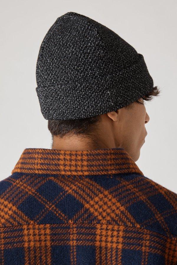 Stone Island Reflective Knit Cap - Black
