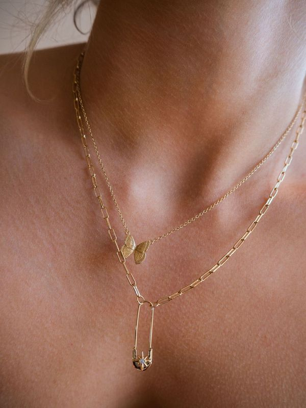Five and Two Stevie Necklace - Gold