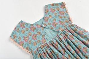 Kids Louise Misha Tapalpa Dress - Turquoise Flowers
