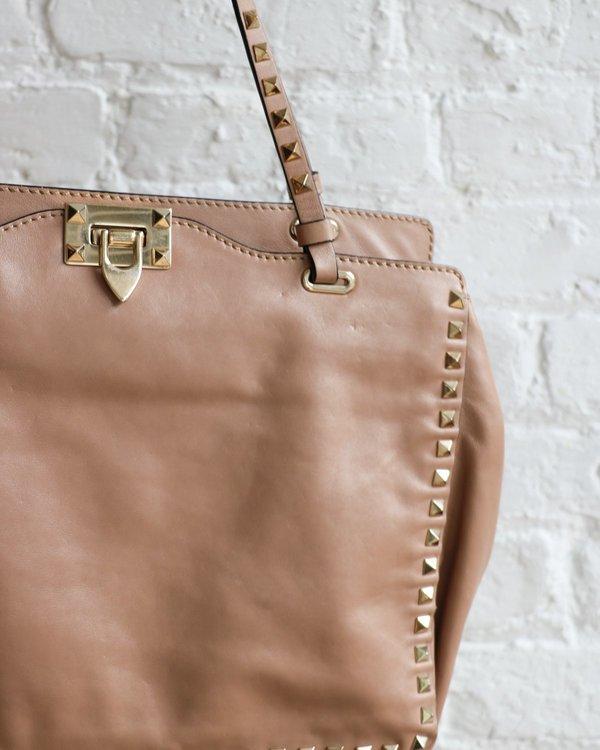 [Pre-loved] Valentino Rockstud Tote Bag - Beige