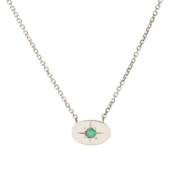 Tarin Thomas Nara Emerald Necklace