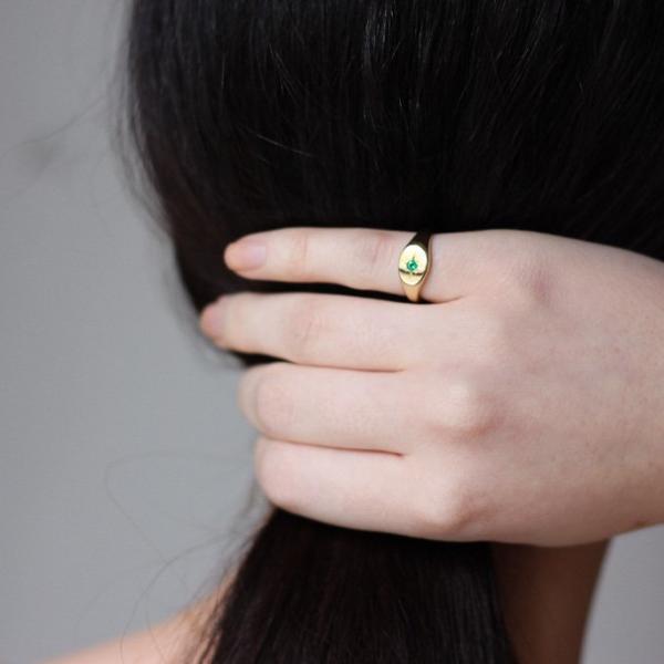 Tarin Thomas Nara Emerald Ring