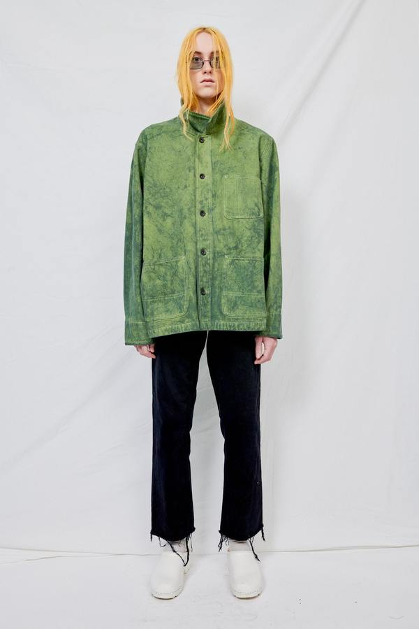 Assembly Overdyed Denim Field Coat - Green