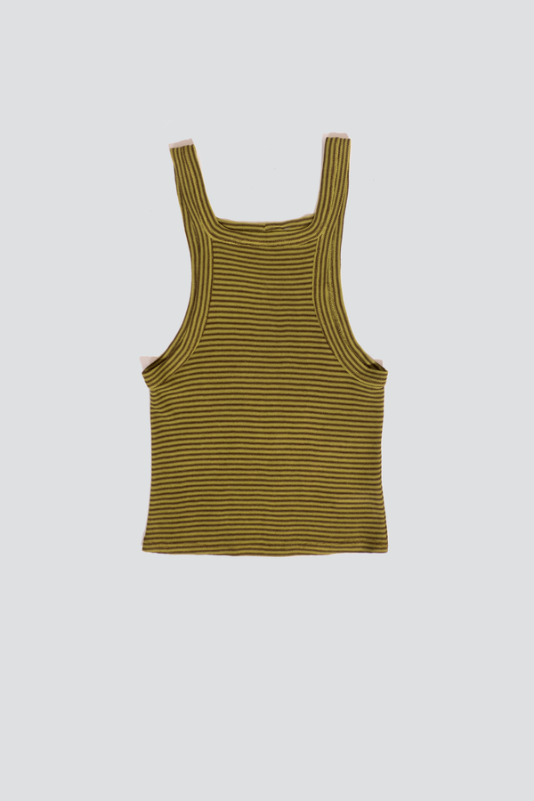 Assembly Stripe Banded Tank Top - Green