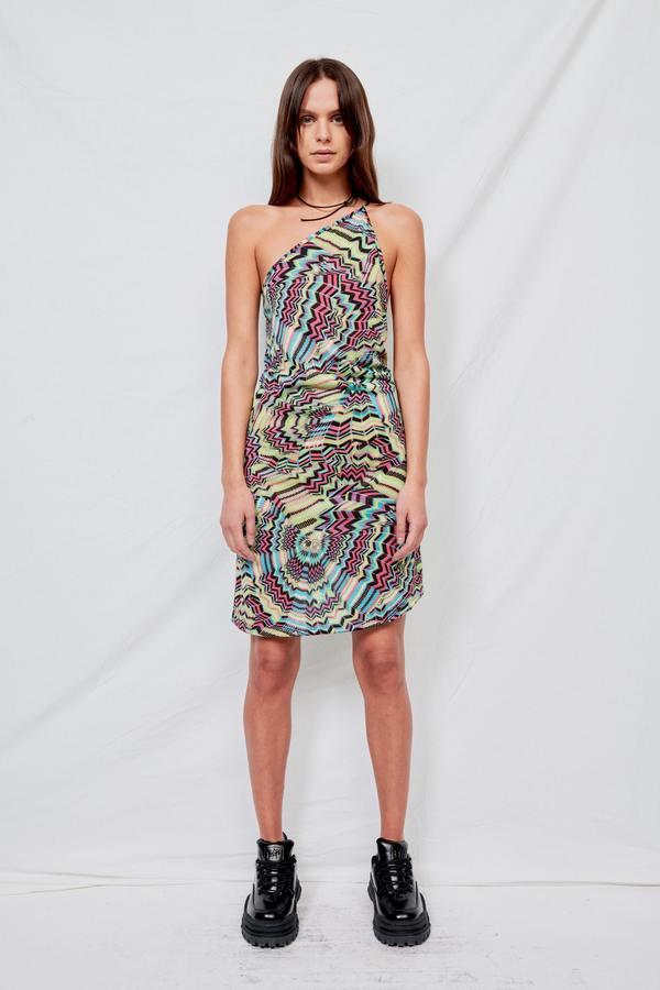 Assembly Psychedelic One Strap Dress