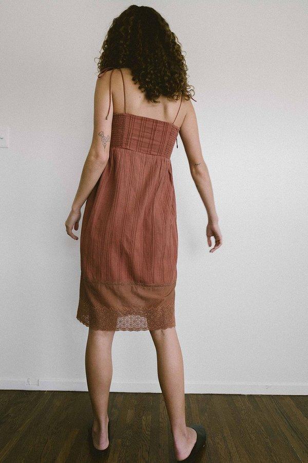 Maria Stanley ESTIE DRESS - clay