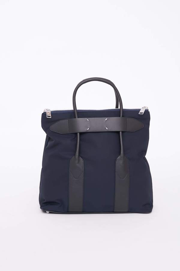 Maison Margiela Small Flexy Tote - MIDNIGHT NAVY/BLACK H7495