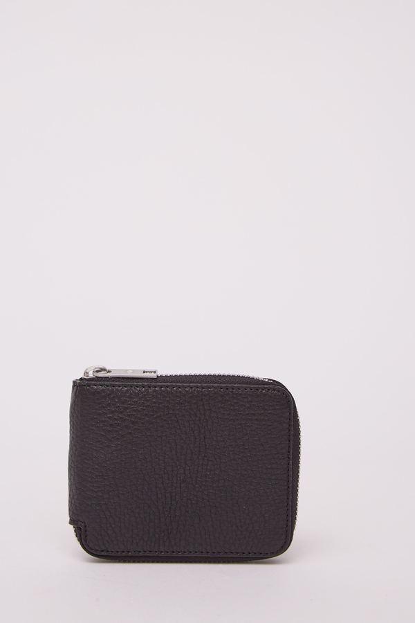 Maison Margiela Small Zip Around Wallet - BLACK H1669