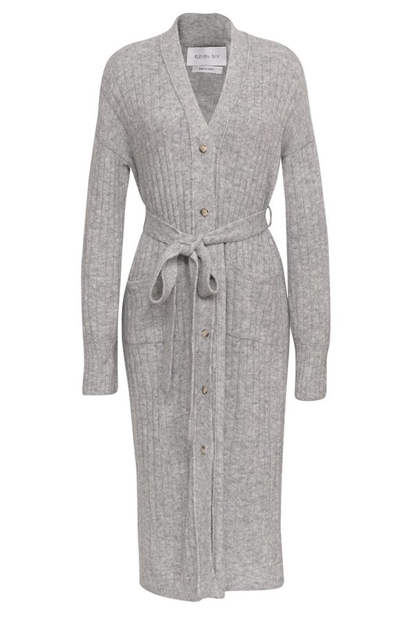 Eleven Six Erica Cardi Dress - Pale Grey