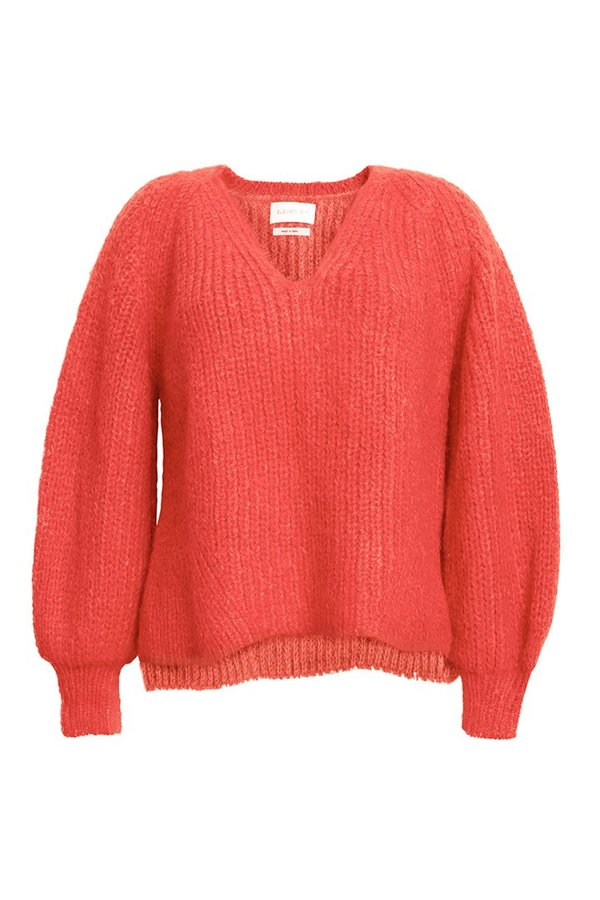 Eleven Six Tess Sweater - Hot Coral