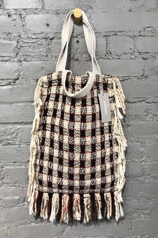 Handwoven Mirth Tote - B&W