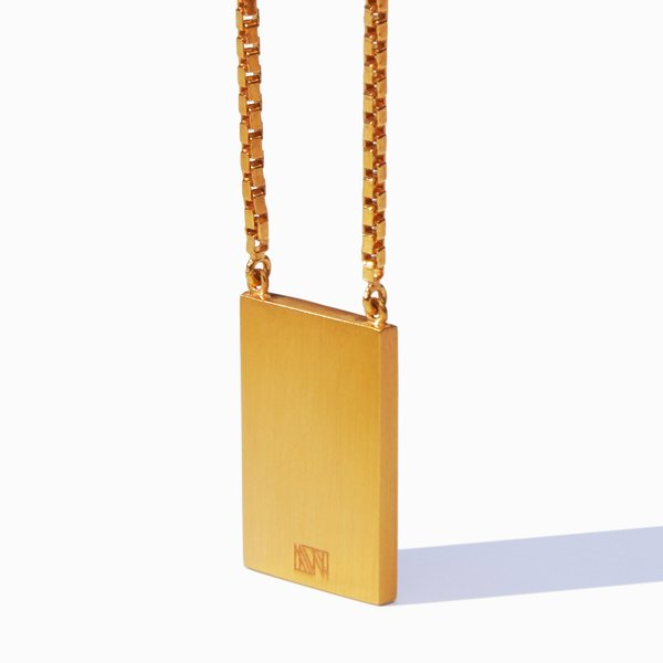 MING YU WANG Quote Pendant Necklace - Gold