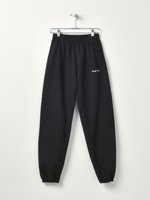Sporty & Rich Classic Logo Sweatpant - Black/White