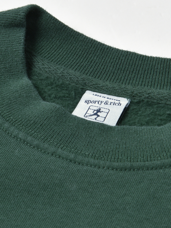 Sporty & Rich Health, Wellness Crewneck - Forest Green/White