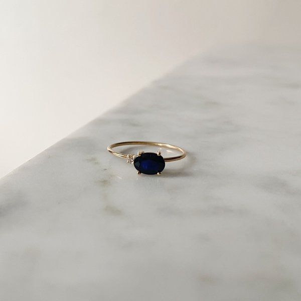 Tarin Thomas Royal Blue Ring - Gold/Blue Shapphire