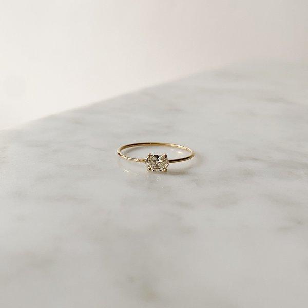 Tarin Thomas Simply Lavish Mini Ring - Gold/Diamond