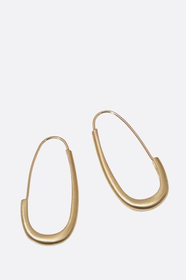 Bronze Oval Katachi Earrings