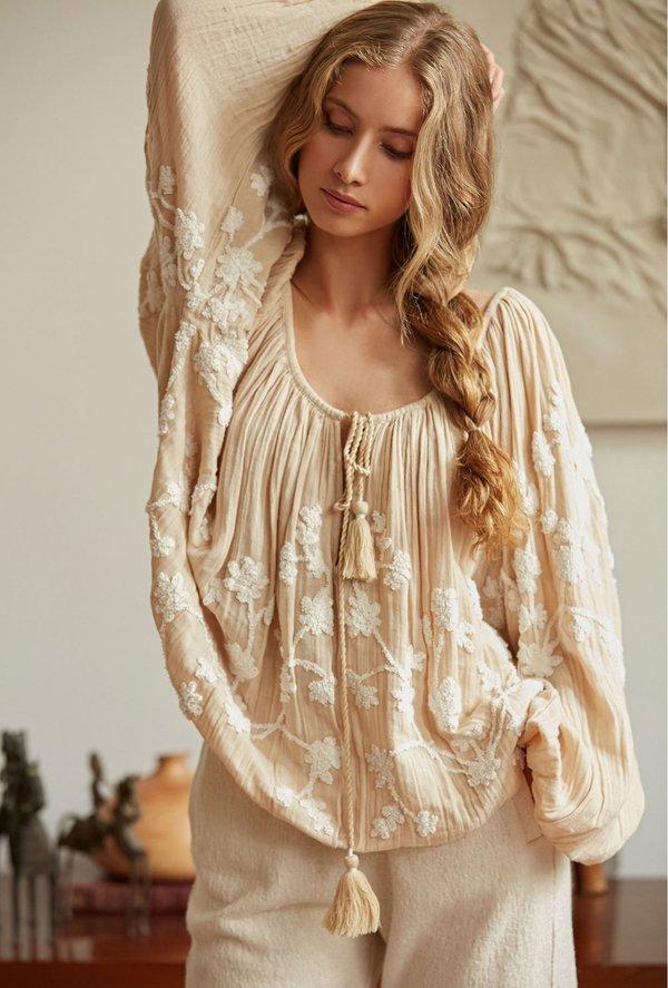 Flocon natural blouse
