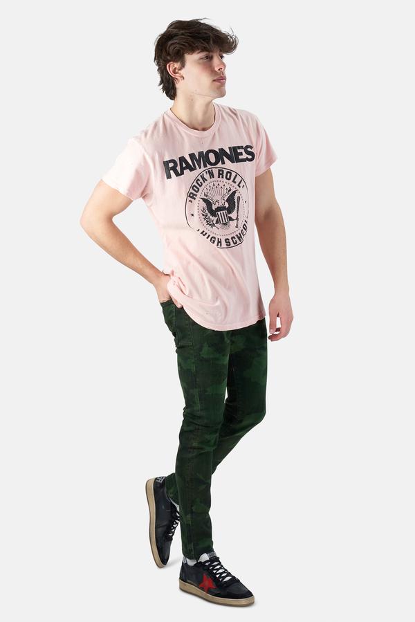 MadeWorn Rock Ramones Hey Ho T-Shirt - Off White