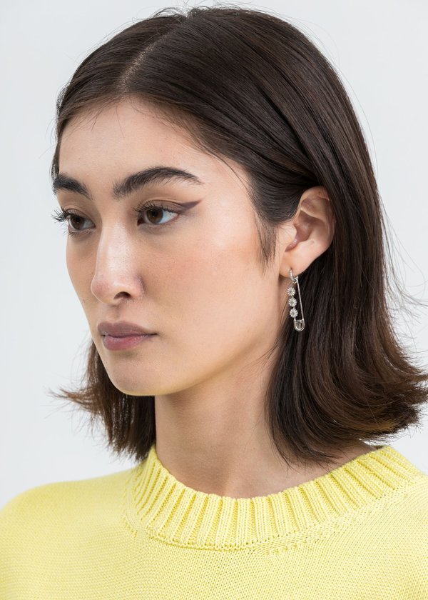 Silver Daisy Pin Earring (Single)