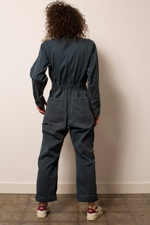 Vintage Herringbone Coveralls - Dark Teal