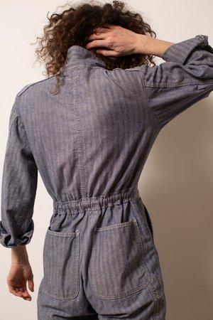 Vintage Herringbone Stripe Coveralls