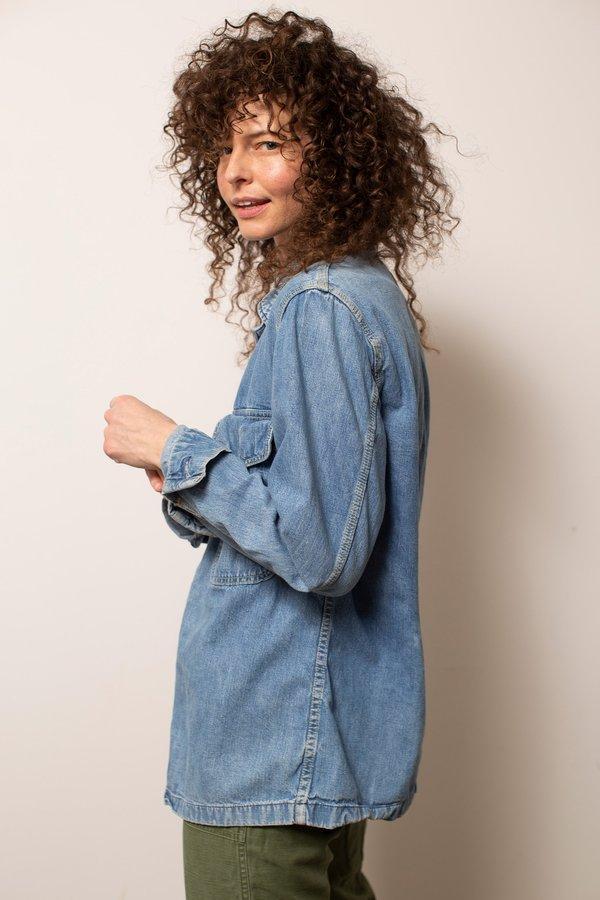 Vintage Lee Denim Jac-Shirt - Blue