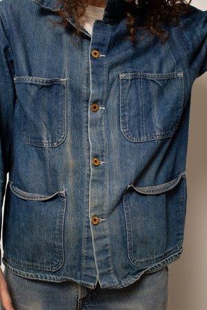 Vintage Stonecutter Denim Chore Coat - Blue