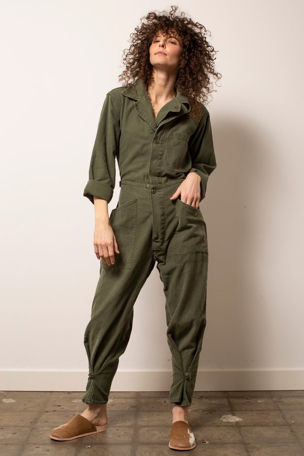 Vintage Military #30 Flight Suit - Green