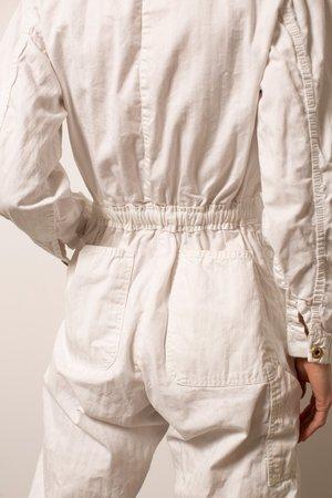Vintage Herringbone Coveralls - White