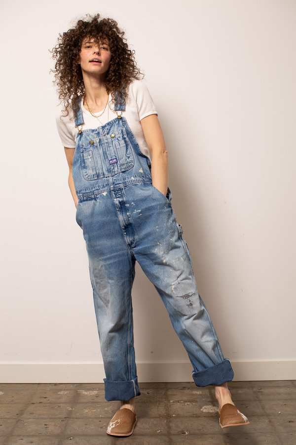 Vintage Worked-In Big Smith Denim Overalls